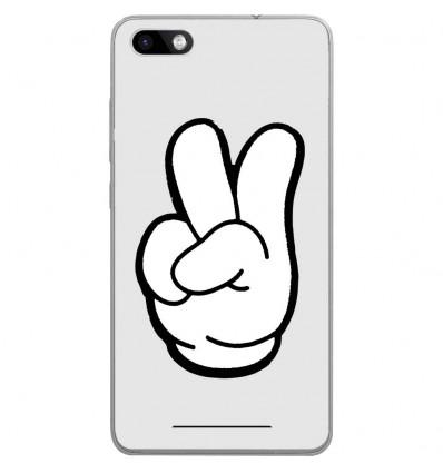 Coque en silicone Wiko Lenny 3 - Swag Hand Blanc