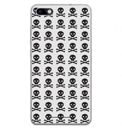 Coque en silicone Wiko Lenny 3 - Skull Noir