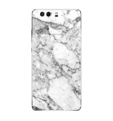 Coque en silicone Huawei P9 - Marbre Blanc