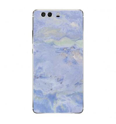 Coque en silicone Huawei P9 - Marbre Bleu