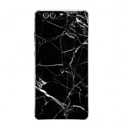 Coque en silicone Huawei P9 - Marbre Noir