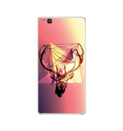 Coque en silicone Huawei P9 Lite - Cerf Hipster