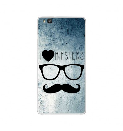 Coque en silicone Huawei P9 Lite - I Love Hipster