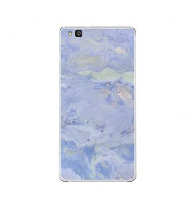 Coque en silicone Huawei P9 Lite - Marbre Bleu