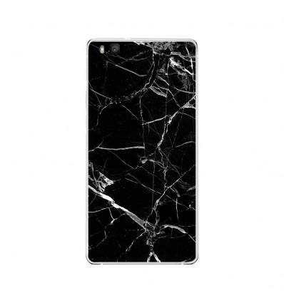 Coque en silicone Huawei P9 Lite - Marbre Noir