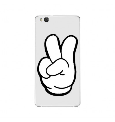 Coque en silicone Huawei P9 Lite - Swag Hand Blanc