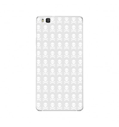 Coque en silicone Huawei P9 Lite - Skull blanc
