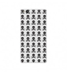 Coque en silicone Huawei P9 Lite - Skull Noir