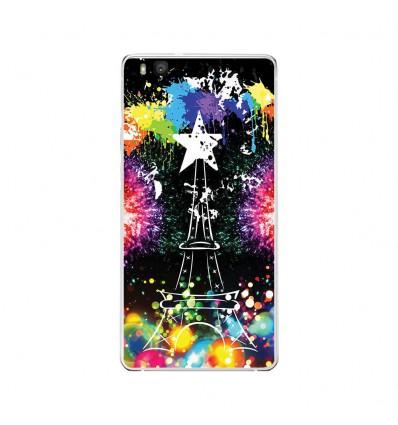 Coque en silicone Huawei P9 Lite - Tour Eiffel
