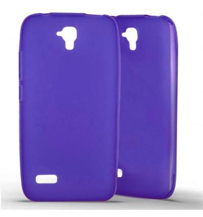 Coque Huawei Y5 en Silicone Gel Givré- Violet