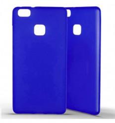 Coque Huawei P9 Lite en Silicone Gel Givré- Bleu