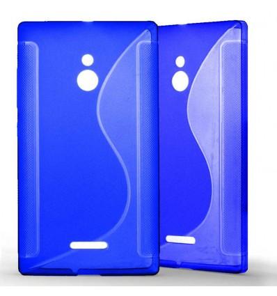 Coque Nokia XL Grip en Silicone Gel Givré- Bleu