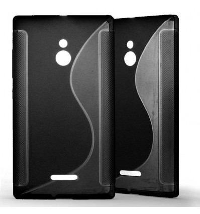 Coque Nokia XL Grip en Silicone Gel Givré- Noir