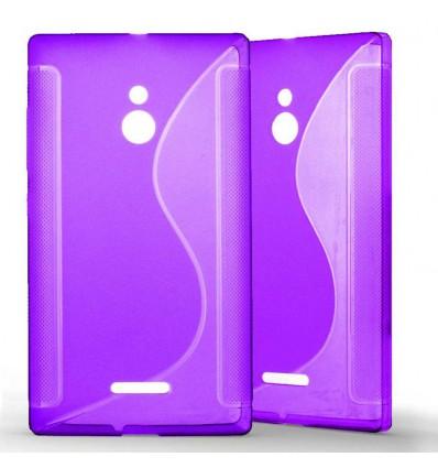 Coque Nokia XL Grip en Silicone Gel Givré- Violet