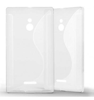 Coque Nokia XL Grip en Silicone Gel Givré- Transparent