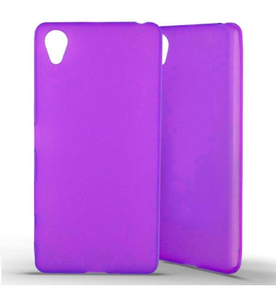 Coque Sony Xperia X en Silicone Gel Givré - Violet