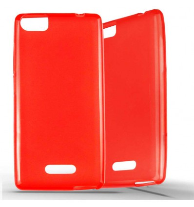 Coque Wiko Fever Special Edition en Silicone Gel Givré - Rouge