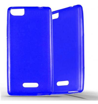 Coque Wiko Fever Special Edition en Silicone Gel Givré - Bleu