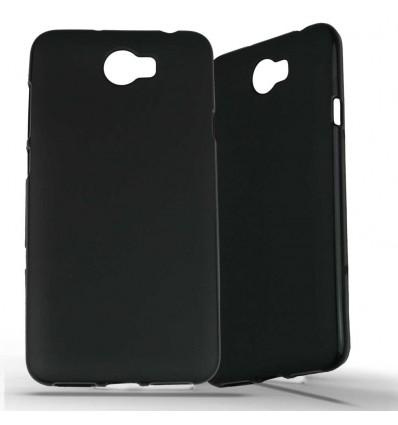 Coque Huawei Y5 II en Silicone Gel Givré - Noir Opaque