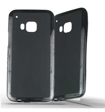 Coque HTC One M9 en Silicone Gel Givré - Noir Opaque
