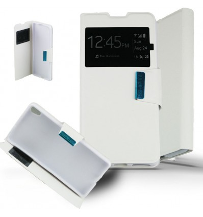 Etui Sony Xperia XA Housse Folio Fenêtre - Blanc
