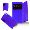 Etui Sony Xperia XA Housse Folio Fenêtre - Bleu