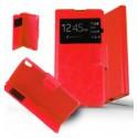 Etui Sony Xperia XA Housse Folio Fenêtre - Rouge