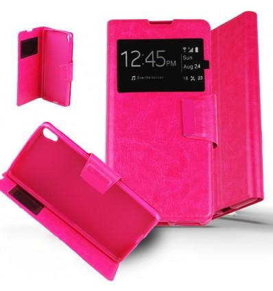 Etui Sony Xperia XA Housse Folio Fenêtre - Rose