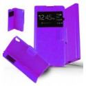 Etui Sony Xperia XA Housse Folio Fenêtre - Violet