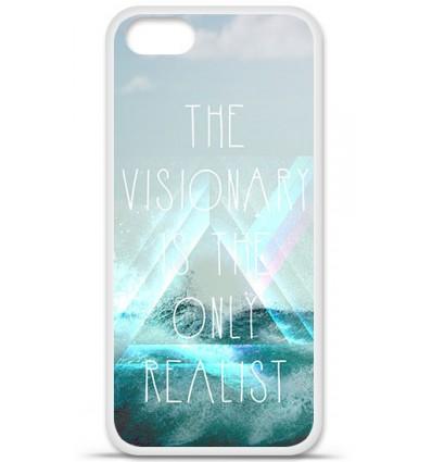 Coque en silicone Apple iPhone 5 SE - Citation Visionary