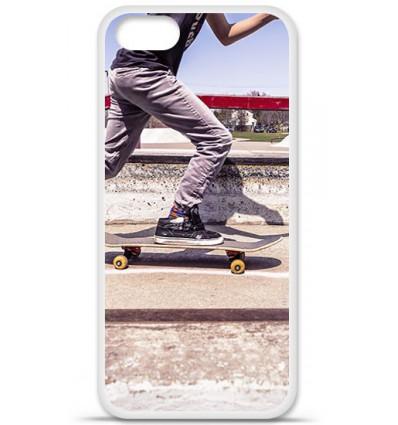 Coque en silicone Apple iPhone SE - Skate