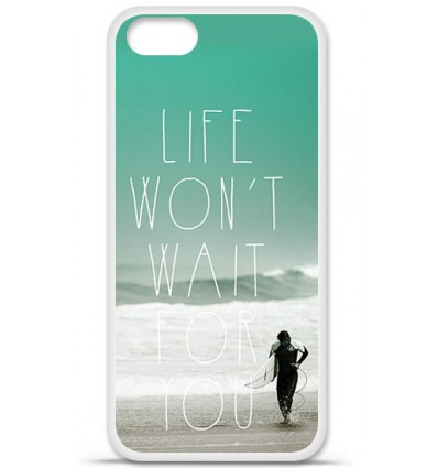Coque en silicone Apple iPhone SE - Surfer