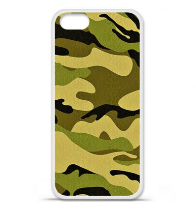 Coque en silicone Apple iPhone SE - Camouflage