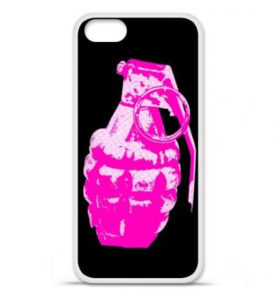 Coque en silicone Apple iPhone SE - Grenade rose