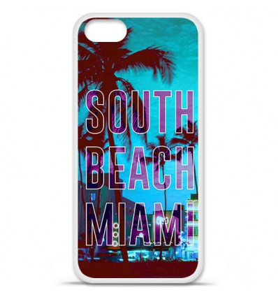 Coque en silicone Apple iPhone SE - South beach miami
