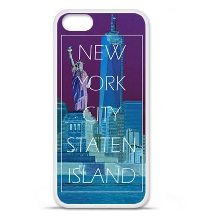 Coque en silicone Apple iPhone 5 SE - New York Staten Island