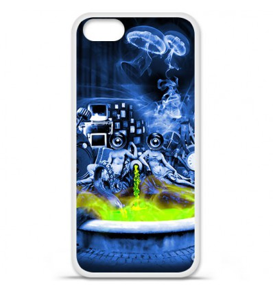 Coque en silicone Apple iPhone SE - Fontaine