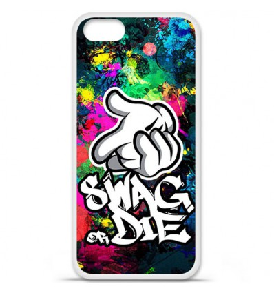 Coque en silicone Apple iPhone SE - Swag or die