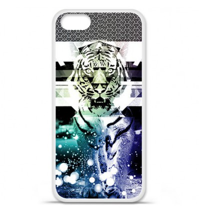 Coque en silicone Apple iPhone SE - Tigre swag