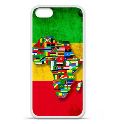 Coque en silicone Apple iPhone SE - Drapeau Africa Unite