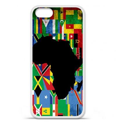 Coque en silicone Apple iPhone SE - Drapeau Afrique