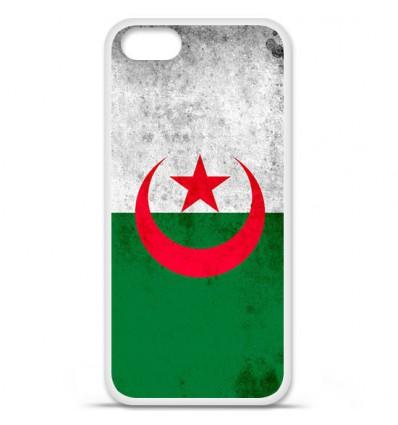 Coque en silicone Apple iPhone 5 SE - Drapeau Algérie