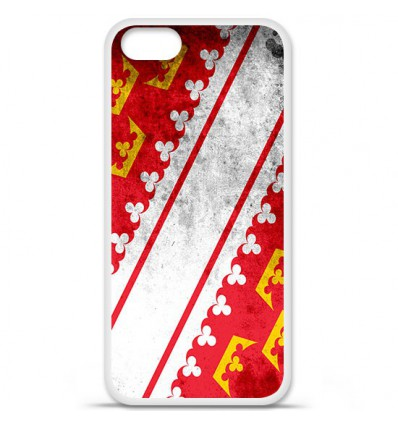 Coque en silicone Apple iPhone SE - Drapeau Alsace