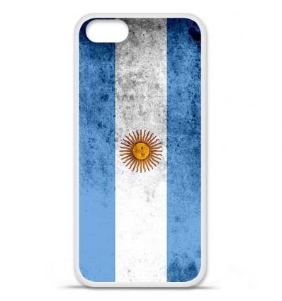 Coque en silicone Apple iPhone 5 SE - Drapeau Argentine