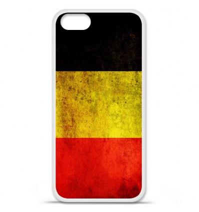 Coque en silicone Apple iPhone SE - Drapeau Belgique