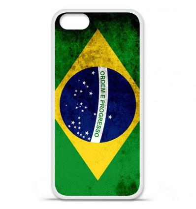 Coque en silicone Apple iPhone SE - Drapeau Brésil