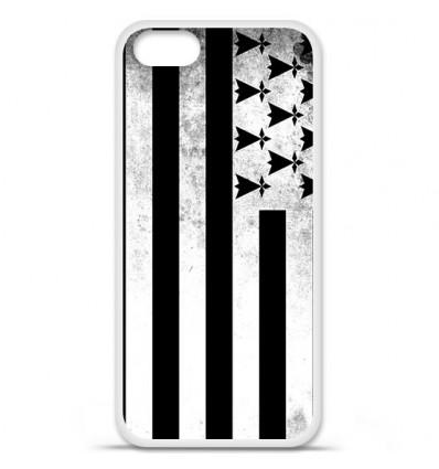 Coque en silicone Apple iPhone SE - Drapeau Bretagne