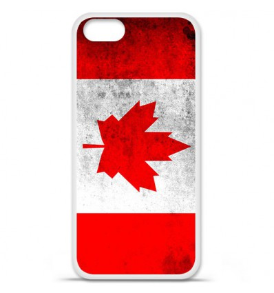 Coque en silicone Apple iPhone SE - Drapeau Canada