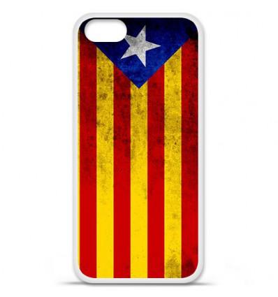Coque en silicone Apple iPhone SE - Drapeau Catalogne