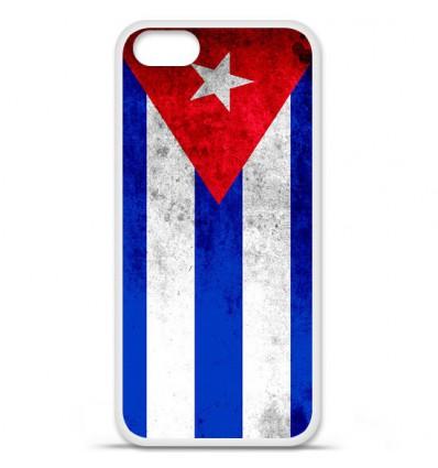 Coque en silicone Apple iPhone SE - Drapeau Cuba